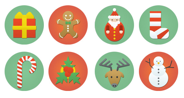 ui elements ui set icons free download free flat christmas icons christmas