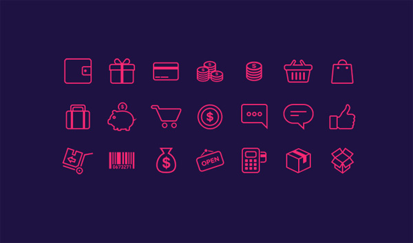 ui elements ui shopping cart pink icons pink money icons icon free download free financial ecommerce e-commerce icons banking