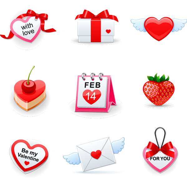 vector valentines icons valentines red mail love icons icon heart free download free calendar feb 14