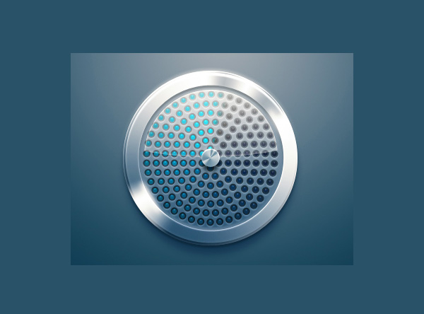 ui elements ui speaker shiny round metal mesh free download free blue