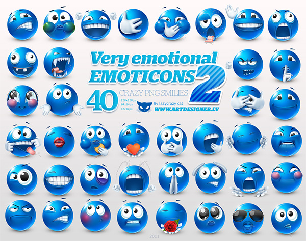 ui elements ui smiley set blue icons free download free faces emotional emoticons