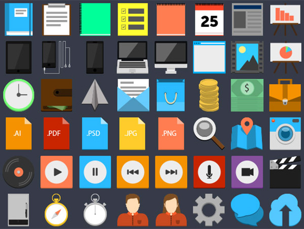 vector user ui elements ui timer square set search programs player notes map icons icon free download free flat colorful cloud clock clipboard chat calendar avatar