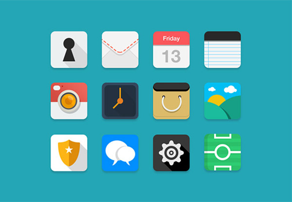 ui elements ui settings set rounded pictures notes map mail icons free download free flat colorful clock chat camera icon calendar