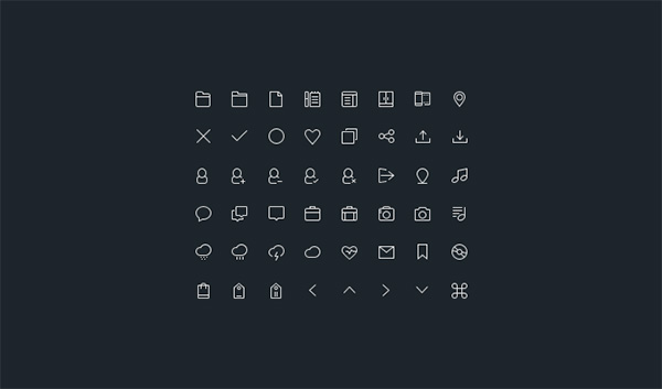 ui elements ui thin stroke set icons icon set glyph free download free budicon