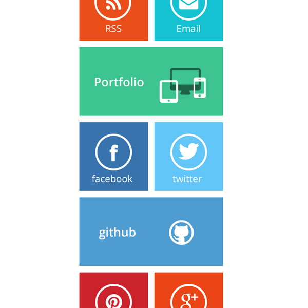 ui elements ui square social icons set portfolio pinterest metro mail icon icons github free download free flat colorful