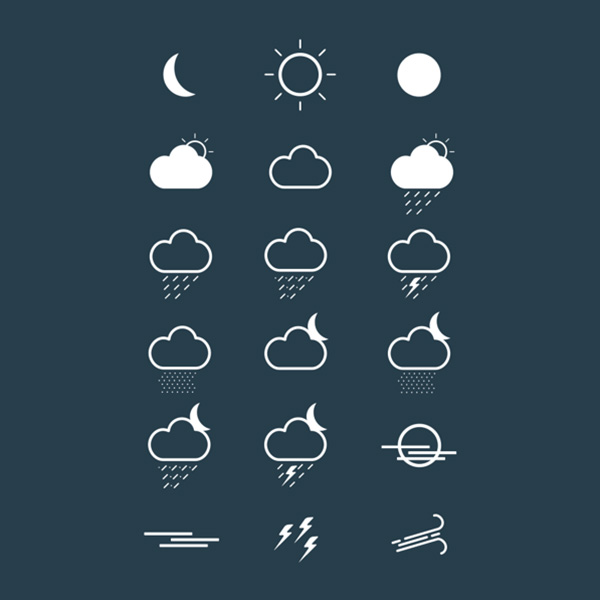 weather icons weather ui elements ui set icons free download free forecast climate cadoo
