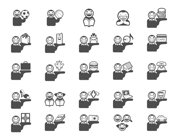 vector travel sports smiling set reading pictures icons persons people music mail icons free download free flat addresses