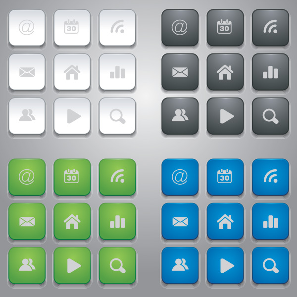 white vector buttons vector mobile buttons mobile icons free download free buttons blue green black