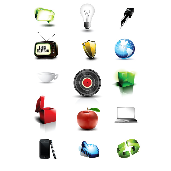 vinyl vector shield set retro tv laptop icons globe fountain pen tip free download free cup box apple 3d