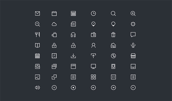ui elements ui thin icons set line icons icons set icons glyph pack free download free