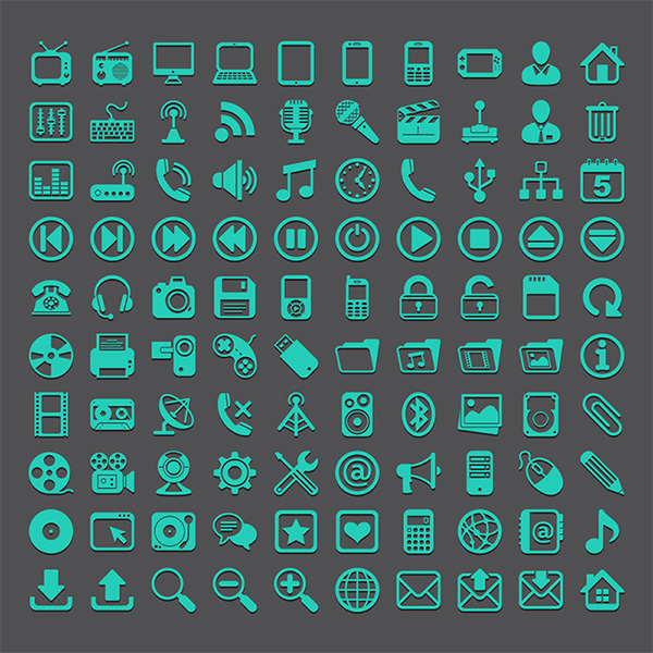 vector icons vector pack set icons green free download free