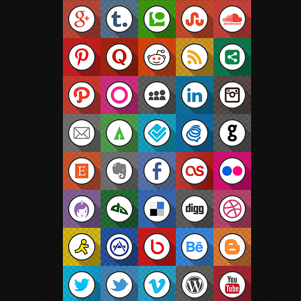 ui elements ui square social icons set png pack networking icons grid free download free flato flat circle