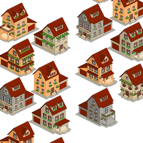 ui elements ui tile set pixel icon houses house home free download free detailed brick