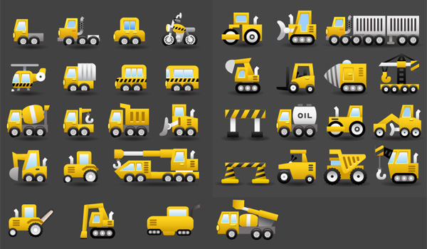 yellow vector trucks transportation transport shipping motorbike icons icon helicopter free download free equipment delivery danger signs cars buses