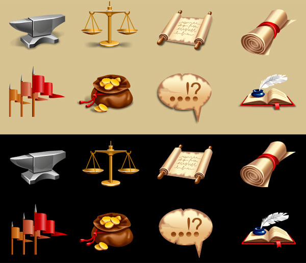 vintage vector speech bubble set icons gold coins gaming games free download free flags fantasy book scale bag of gold