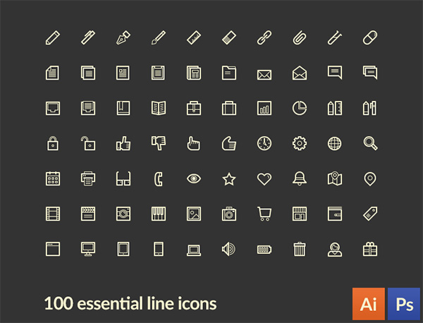 vector ui elements ui thin stroke set pack lineart icons line icons line icons free download free essential mixed