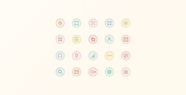ui elements ui soft set round icons pastel minimal icons glyph free download free circle icons