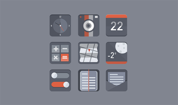 ui elements rounded icons grey gray free downloads free flat