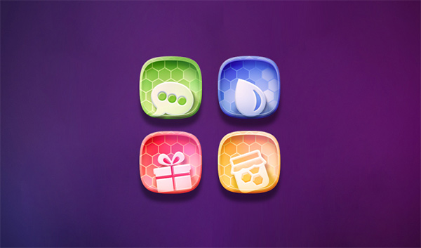 set icons honeycomb free colorful app icon app