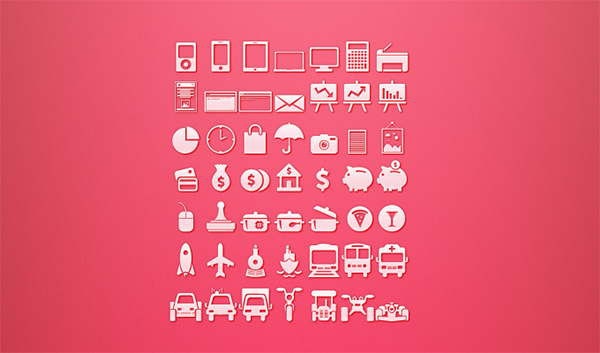 transportation set mixed icons glyph gadgets free food banking