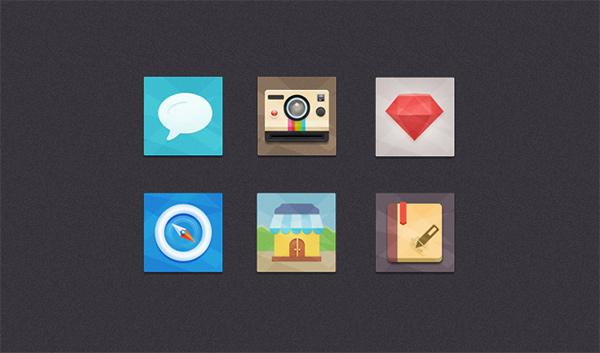 store square set safari polaroid notebook icons icon colorful free flat chat camera bubble