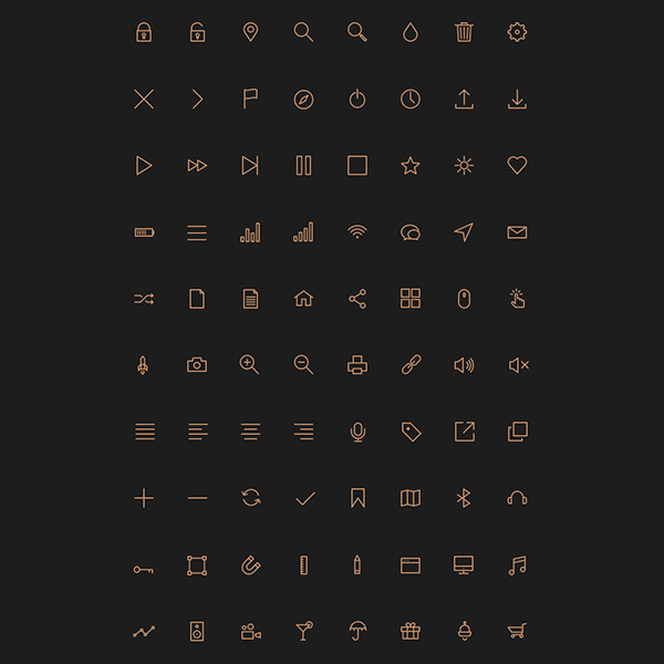 stroke icons set stroke set pixel line icons glyph free