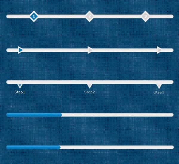 white web unique ui elements ui stylish step quality psd progress bars progress process bars process original new modern interface hi-res HD fresh free download free elements download detailed design creative clean blue bars
