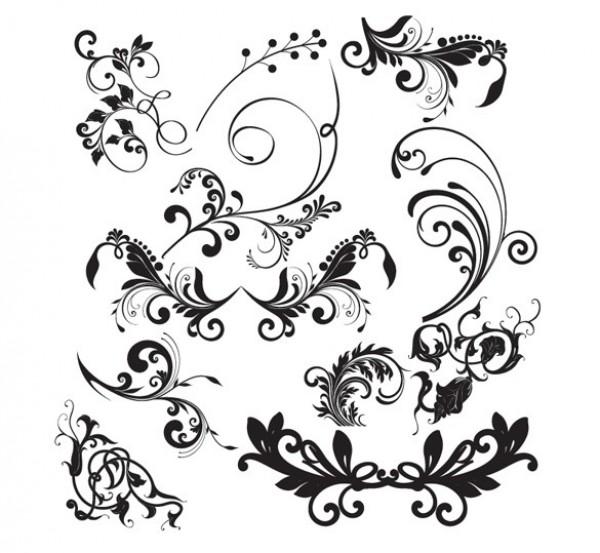 Decorative Floral Elements Vector Set 13281 Welovesolo