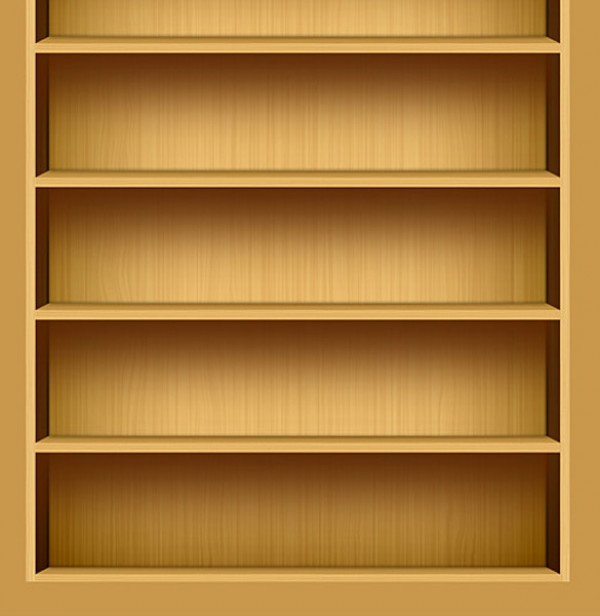 Wood Texture IPad Bookshelf Illustration