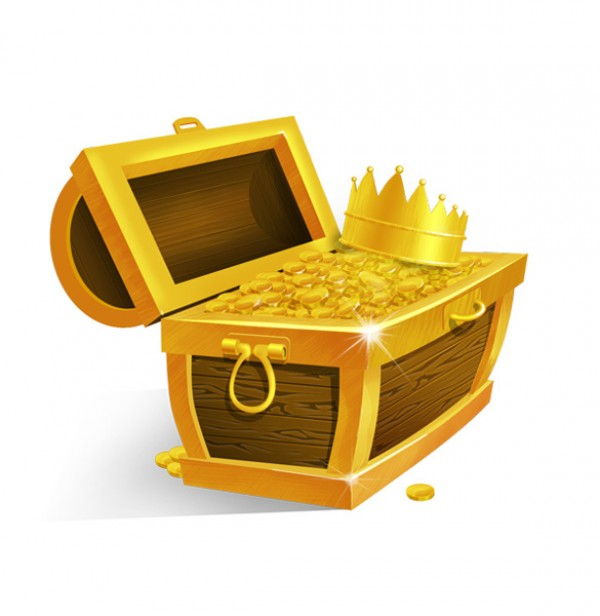 wooden Vectors vector graphic vector unique treasure chest treasure sparkle queen quality Photoshop pack original modern king illustrator illustration high quality golden gold fresh free vectors free download free download crown creative coins chest AI