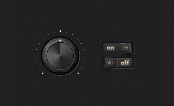 web unique ui elements ui switch stylish round quality psd original on/off switch on off new modern interface hi-res HD glossy fresh free download free elements download detailed design dashboard dark creative control knob clean buttons black