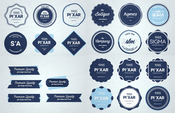 Badge Website 28 finely crafted web ui badges set psd welovesolo