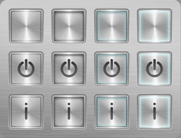 web unique ui elements ui stylish steel states square quality power original on off new modern metal interface info hi-res HD grey glossy fresh free download free elements download detailed design creative clean buttons button blank AI