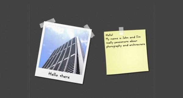 Cool Photo Frame Sticky Note Set PSD - WeLoveSoLo
