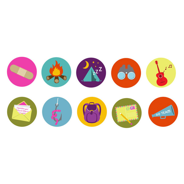 web vector unique ui elements tenting summer camp badge stylish set quality png original new letter interface illustrator horn high quality hi-res HD guitar graphic fresh free download free fishing elements download detailed design creative colorful camping campfire camp badges camp binoculars bandage backpack AI