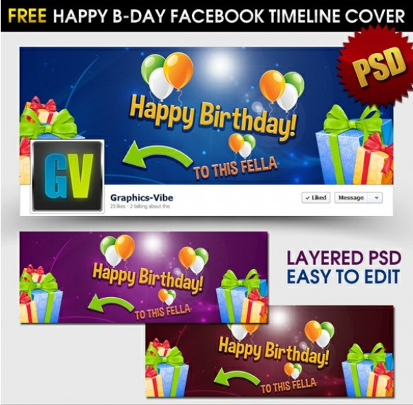 Happy Birthday Facebook Timeline Cover PSD WeLoveSoLo