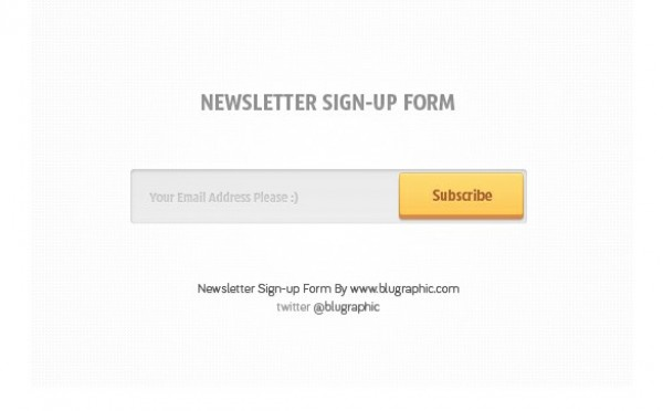 simple newsletter signup input form psd welovesolo