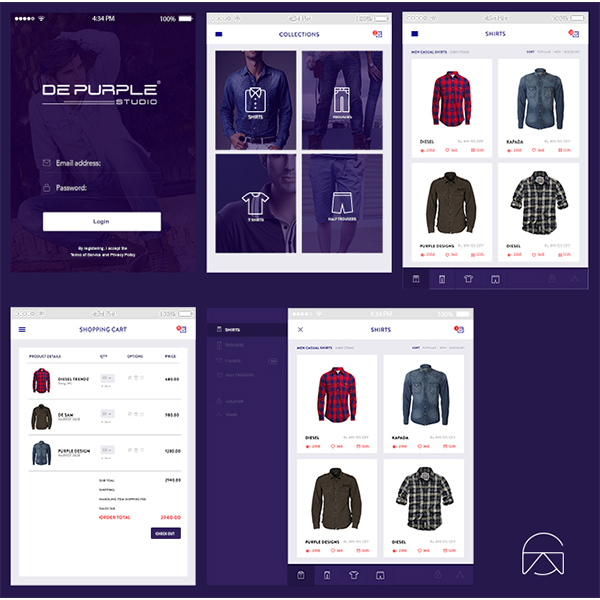 ui kit shopping cart product boxes online store login ecommerce collections