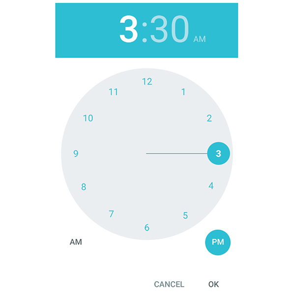 time picker time picker lollipop android