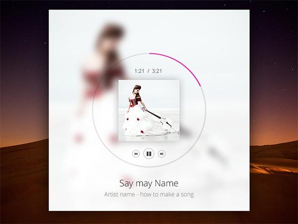 transparent player music player light audio