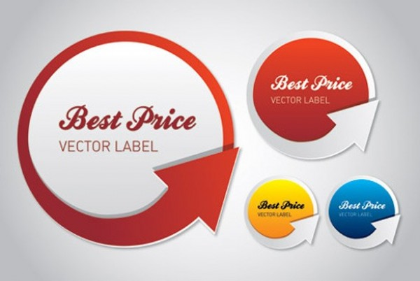 4 round best price arrow vector labels set welovesolo
