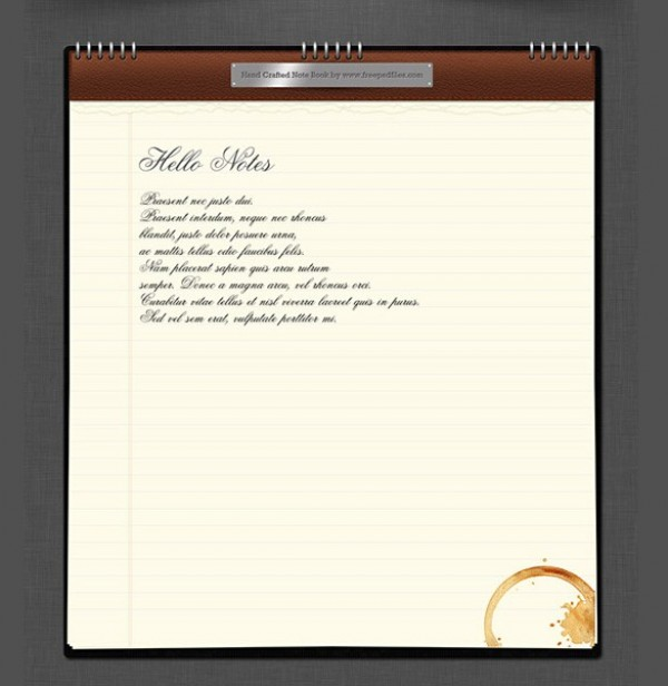 web unique ui elements ui stylish ripped quality psd paper original notes notepad notebook new name plate modern metal lined notepad lined letter leather interface hi-res HD fresh free download free elements download detailed design creative coils coffee spill coffee cup mark clean