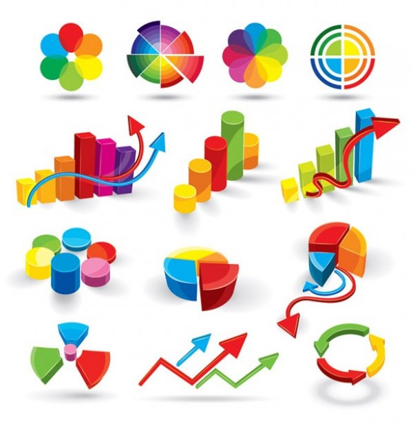 web vector unique ui elements stylish statistics set quality pie charts original new interface infographics illustrator high quality hi-res HD graphs graphic fresh free download free EPS elements download detailed design creative colorful charts bars bar chart arrows