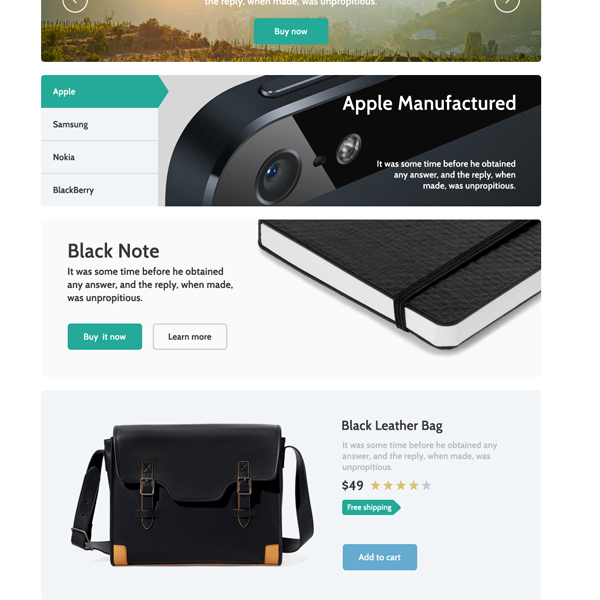 ui kit ui elements product box ecommerce checkout