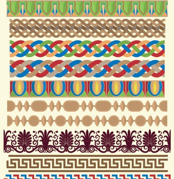 28 greek pattern design vector borders set welovesolo for Assignment first page decoration