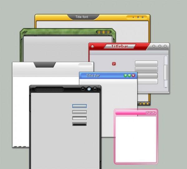 7 Modern Web Design Frames Set PSD - WeLoveSoLo