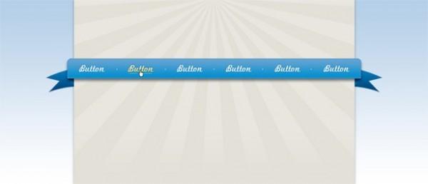 Banner Ribbon Psd Ribbon Style Blue Banner Web