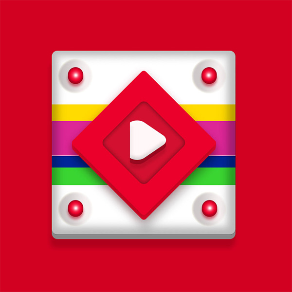ui elements ui striped red player play button play fun free download free bright
