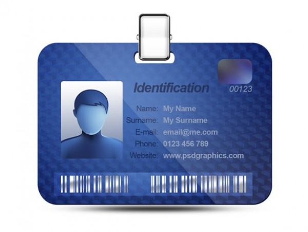 web unique ui elements ui tag stylish quality psd original new modern interface identification card identification ID tag ID card ID hi-res HD fresh free download free elements download detailed design creative clean card blue barcode avatar