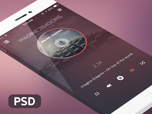 ui elements ui simple player music player app ios free download free app